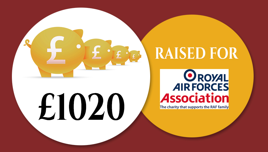 £1020 raised for RAF Association